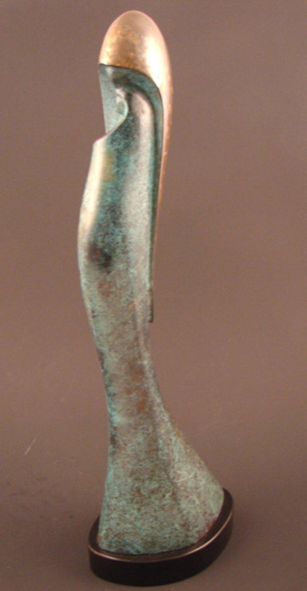 3030: Signed BrasLou Modern Bronze Sculpture. Mother &