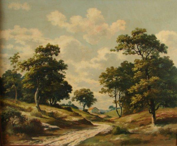3088: Alex Lefort Signed Oil Painting on artist's board