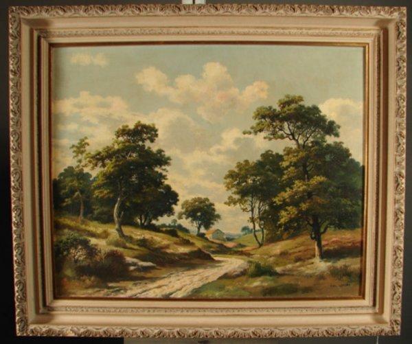 3088: Alex Lefort Signed Oil Painting on artist's board - 2