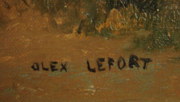 3088: Alex Lefort Signed Oil Painting on artist's board - 3