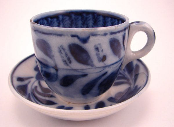 2009: Flow Blue Spinach Pattern Cup and Saucer Set