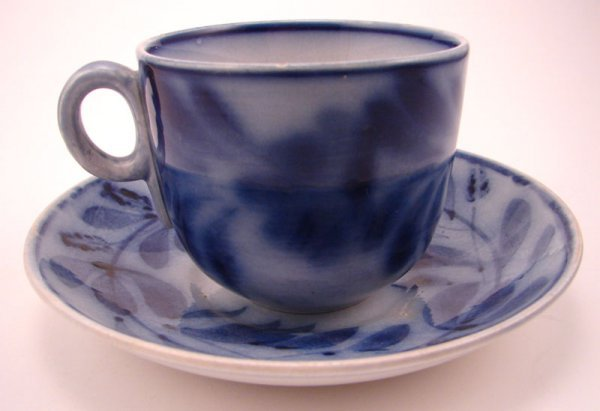 2010: Flow Blue Spinach Pattern Cup and Saucer Set