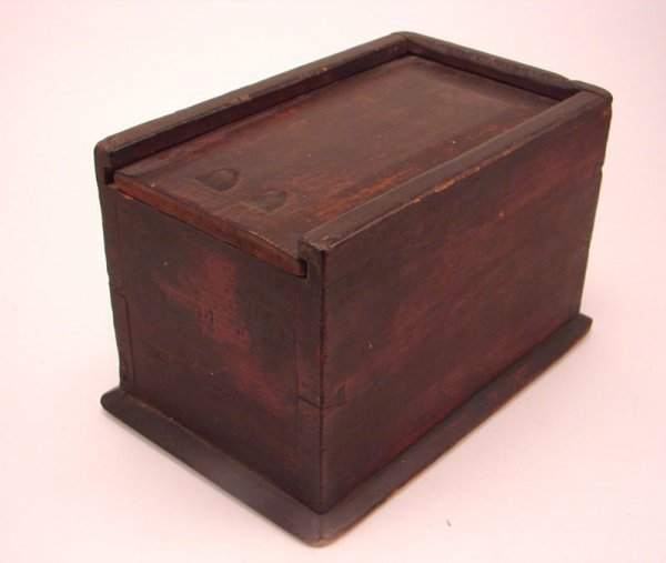 2198: Antique Wooden Candle Box