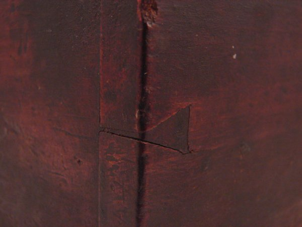 2198: Antique Wooden Candle Box - 3