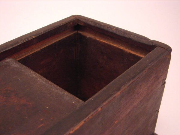 2198: Antique Wooden Candle Box - 4