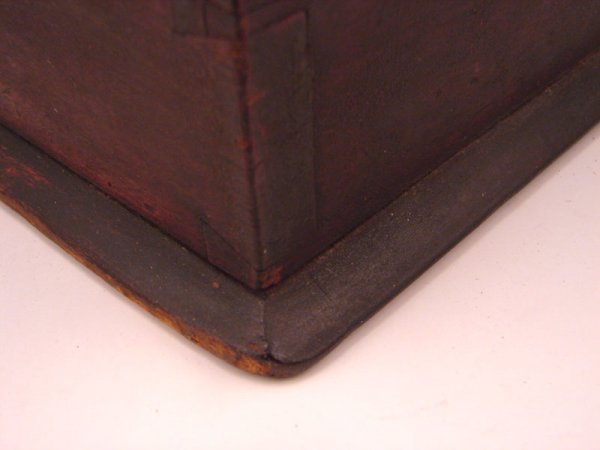 2198: Antique Wooden Candle Box - 5