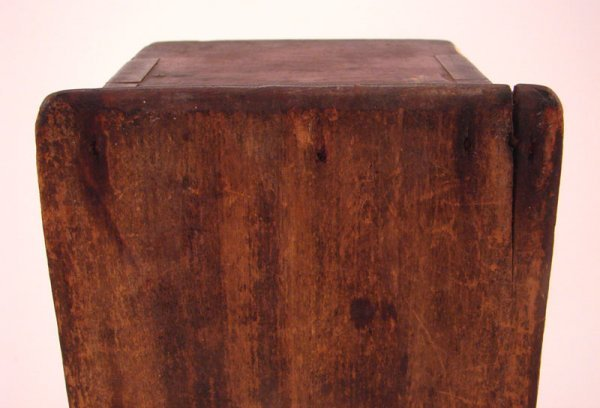 2198: Antique Wooden Candle Box - 6