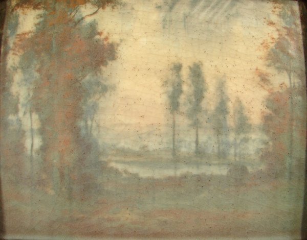 4048A: Rookwood scenic Vellum glaze plaque, Ed Diers