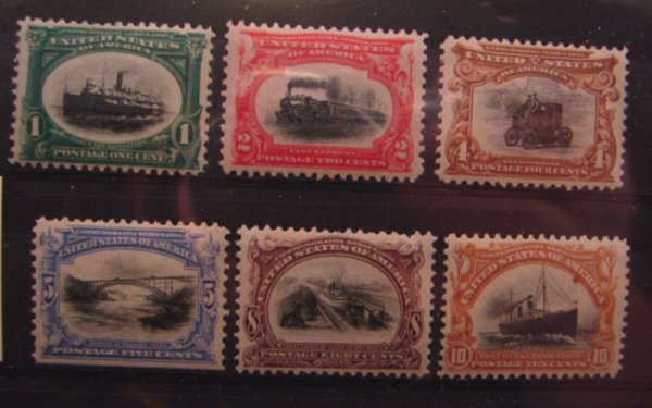 5002: Pan American Expo Issue: 1901 Scott's 294-299 MLH