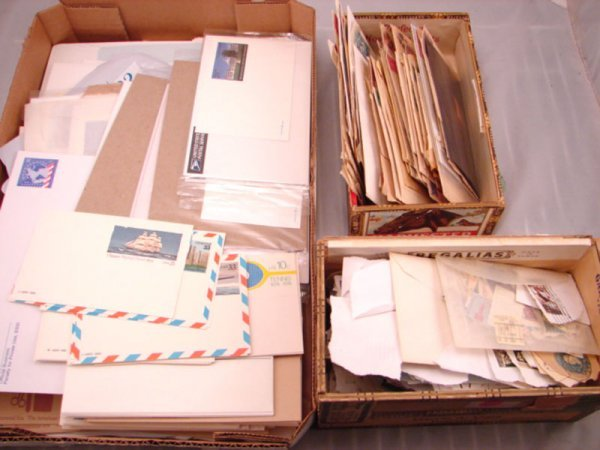 5009: Three boxes: 1 box U.S. prestamped envelopes and