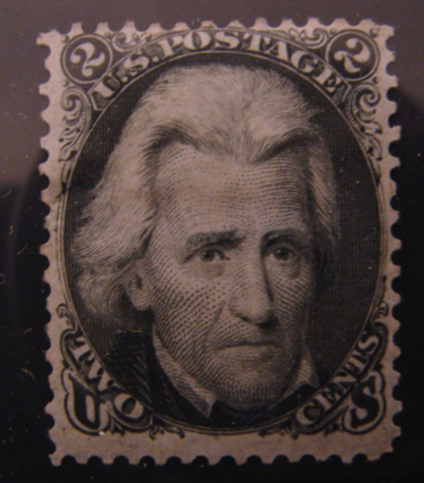 5010: U.S. Scott's # 73 - 2 cent black Andrew Jackson -