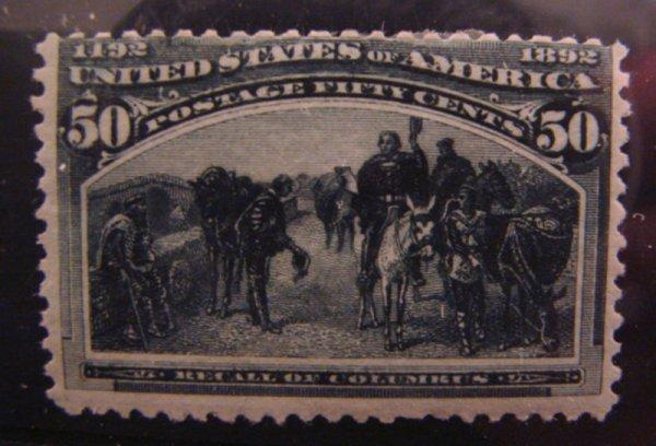 5011: U.S. Scott's # 240 - 50 cent Columbian - mint hin