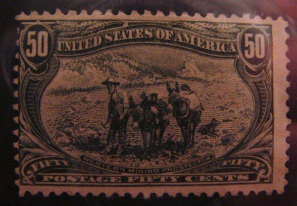 5012: U.S. Scott's # 291 - 50 cent Trans-Mississippi -