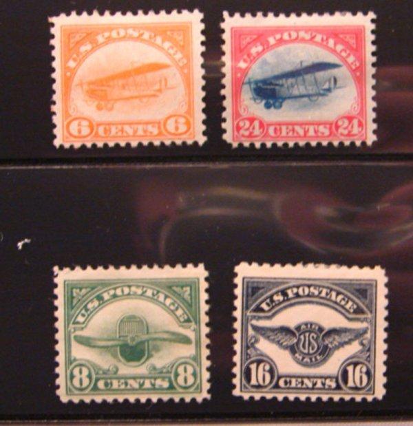 5015: Four early U.S. Airmails - Scott's # C1, C3, C4,