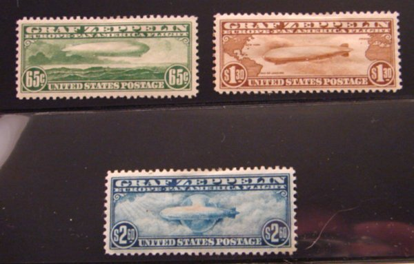 5016: Graf Zeppelin Set: Scott's #C13-C15 - mint hinged