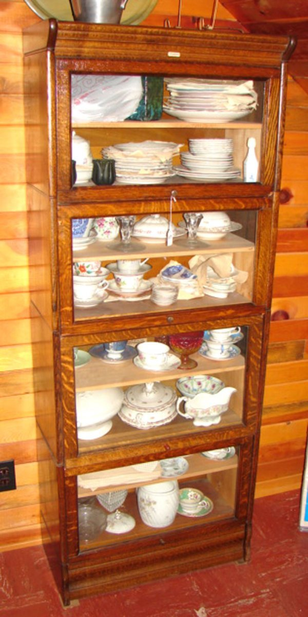 7117: Lundstrom Oak Barrister type Stacking Bookcase