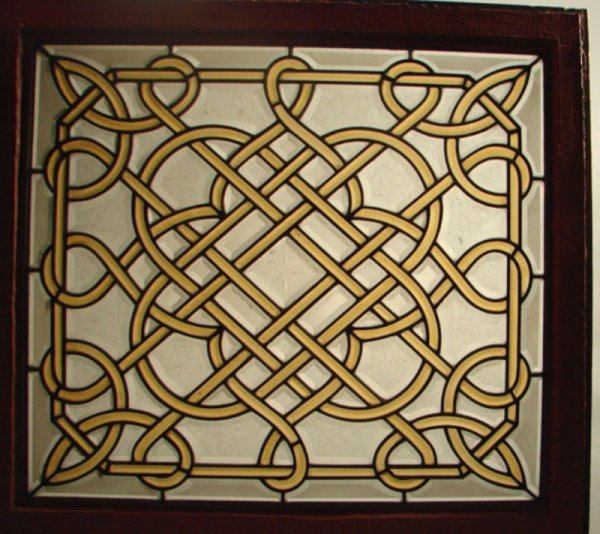 109: Victorian Leaded Beveled Glass Window