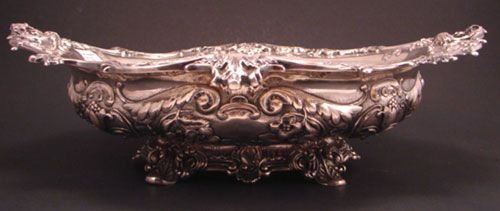 12: Gorham Sterling Silver Repousse Center Bowl