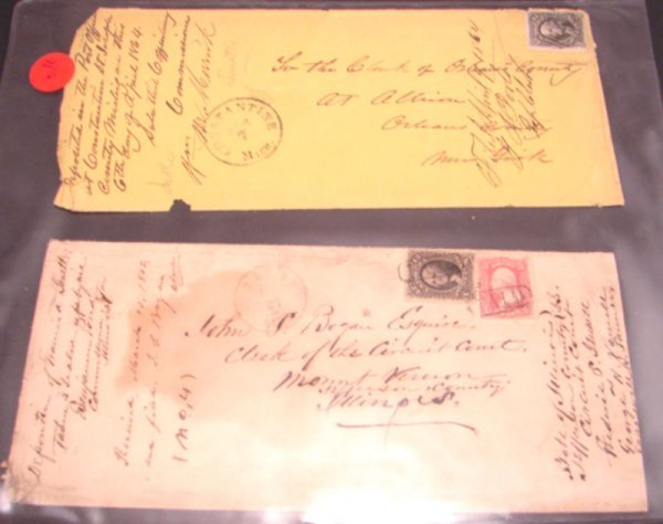 1006: Two nice U.S. Covers: 1) 1864 franked with 12 cen