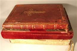 1486 Three Antique Religious Books  Bible