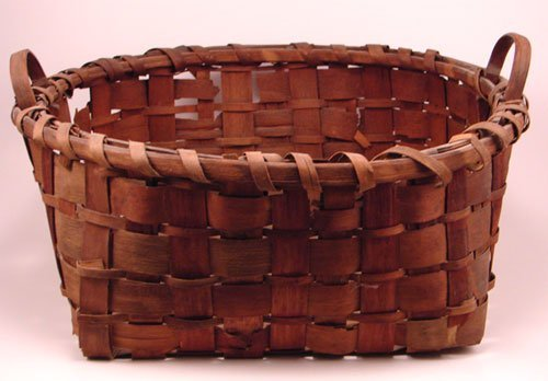 2004: Antique Splint Basket with two handles. Losses to
