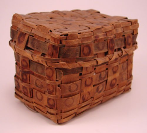 2005: Antique Splint Basket with cover and stamp decora