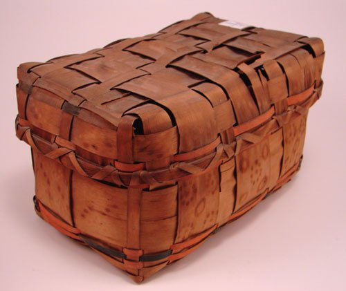 2006: Antique Splint Basket with cover and potato stamp