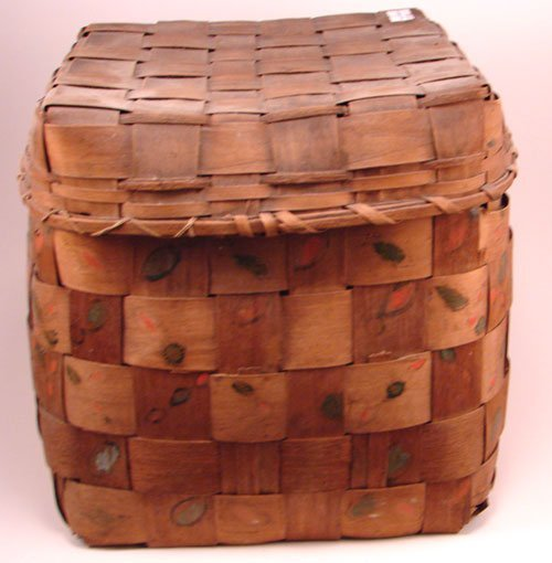 2007: Antique Splint Basket with potato stamp decoratio