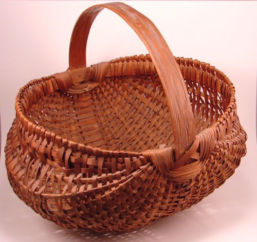 2013: Antique Splint Buttocks Basket. Remains in good c