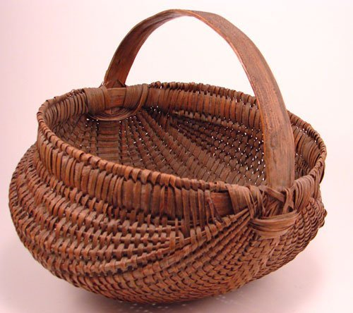 2014: Antique Splint Buttocks Basket. Remains in good c