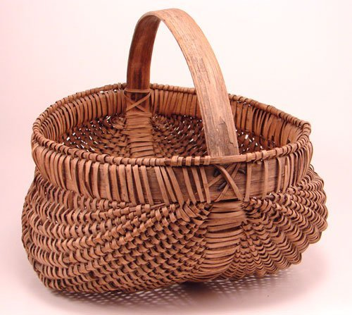 2015: Antique Splint Buttocks Basket. Remains in good c