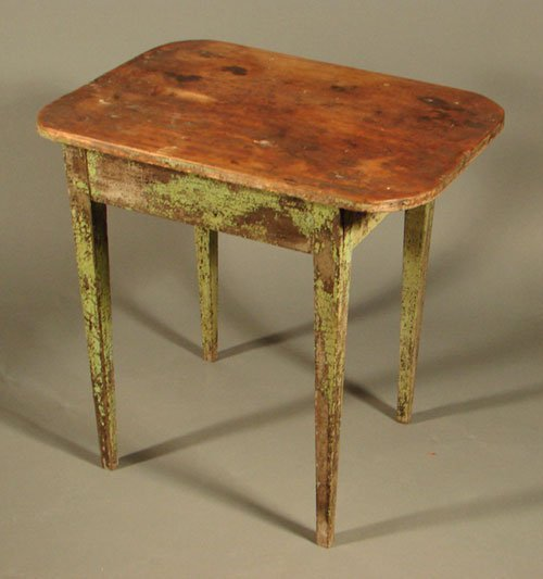2021: Antique Country Primitive Painted Stand. One draw