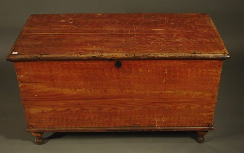 2023: Grain painted blanket chest with glove till and t