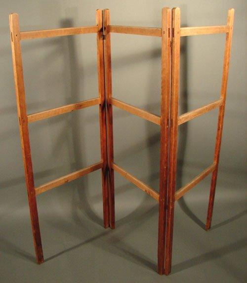 Pine Tri-fold quilt rack, Shaker type. 61