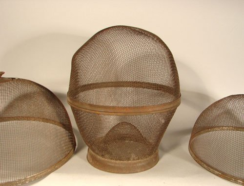 2278: Antique Graduated Mesh Food Covers. Five covers w - 2