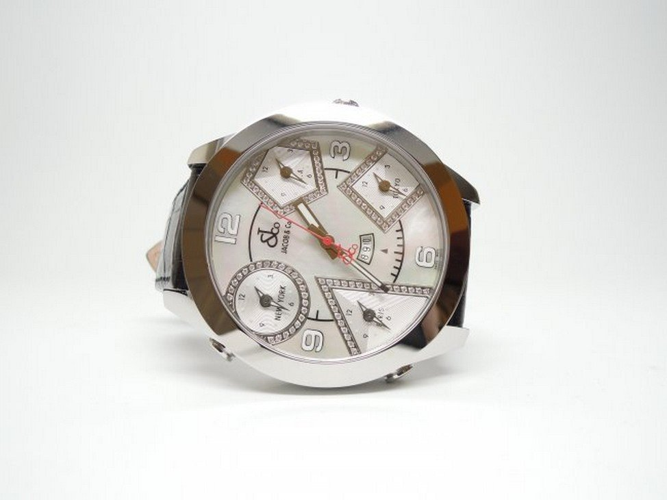 Jacob & Co JC14DA 47mm 5 Time Zone Diamond Watch