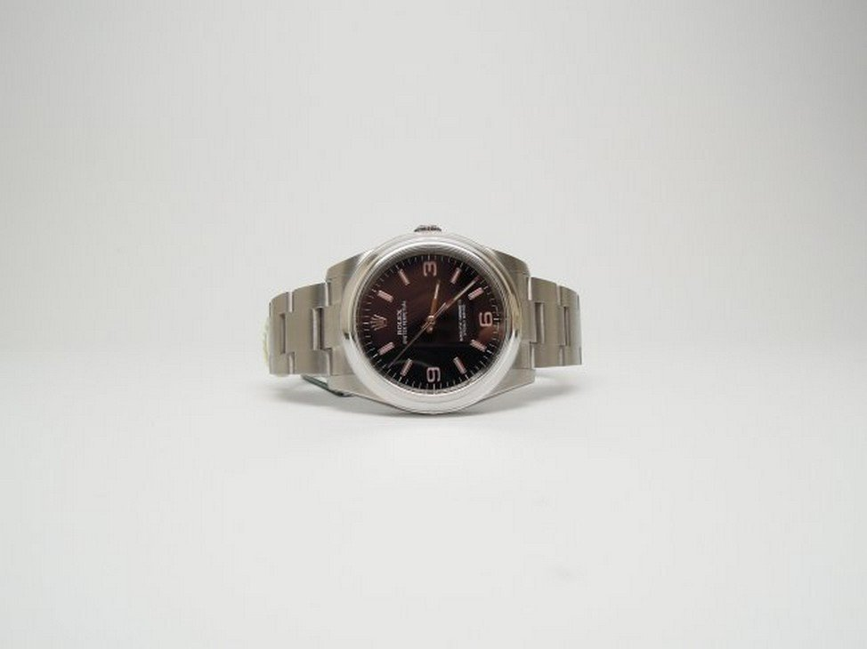 Rolex Oyster Perpetual 36mm Steel Black Dial Watch