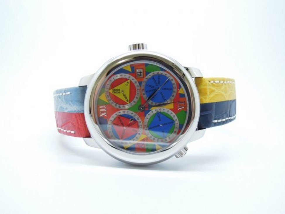 Jacob & Co GMT 33 Time Zone Automatic 47.5mm Watch 15SS