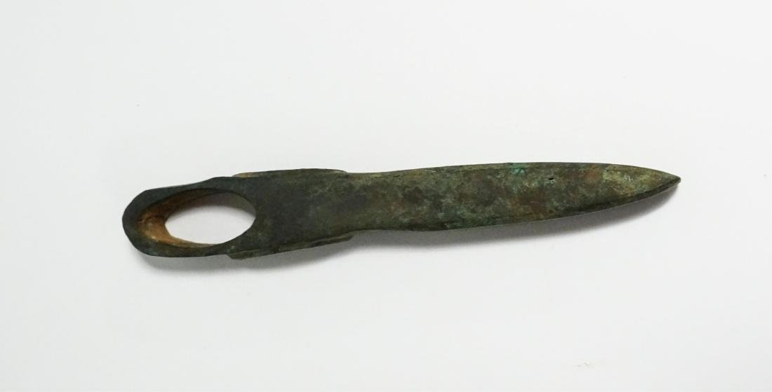 2 ANCIENT BRONZE AGE AXE HEAD AND KNIFE - 5