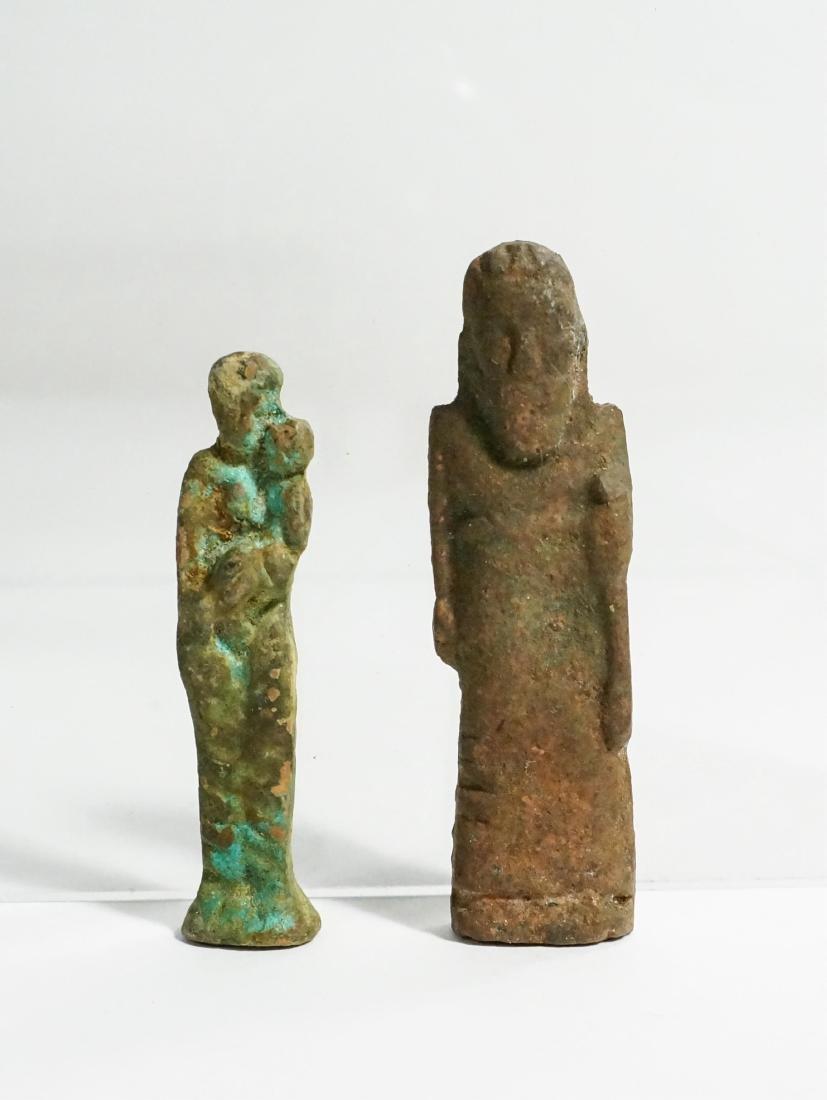 2 ANCIENT ROMAN BRONZESTATUE FIGURE