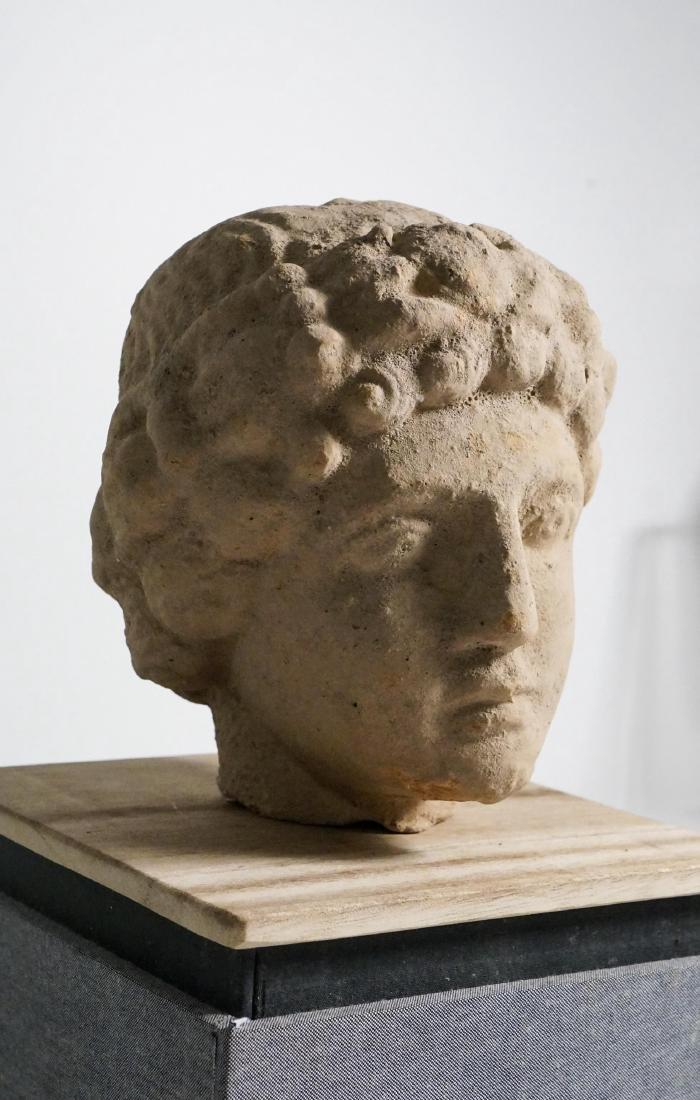 ANCIENT ROMAN CLAY HEAD - 3