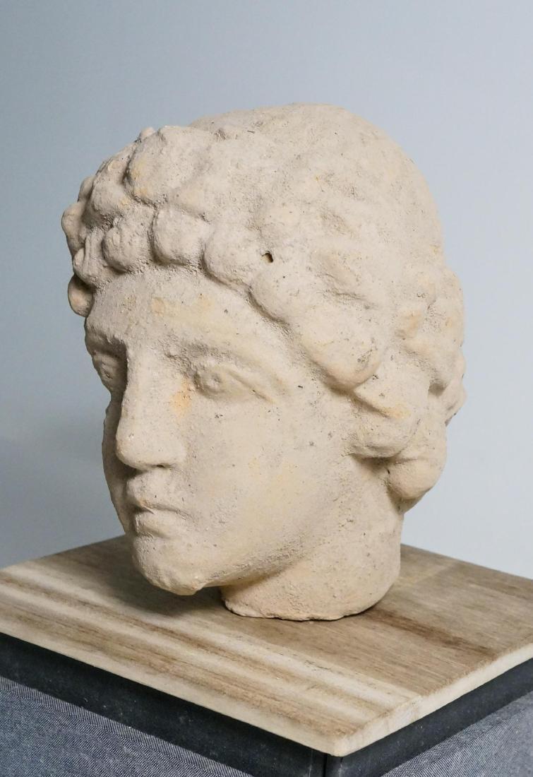 ANCIENT ROMAN CLAY HEAD - 4