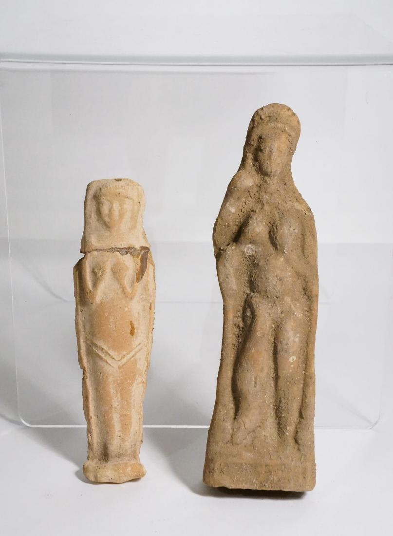 2 ANCIENT ROMAN CLAY STATUE IDOL