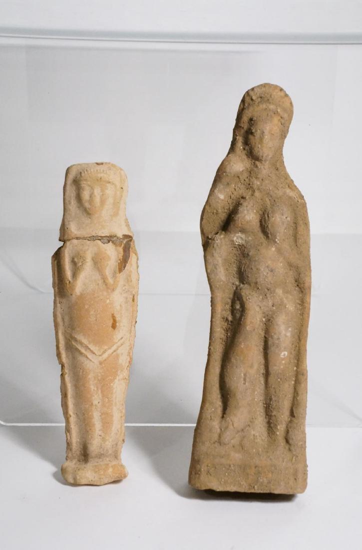 2 ANCIENT ROMAN CLAY STATUE IDOL - 2
