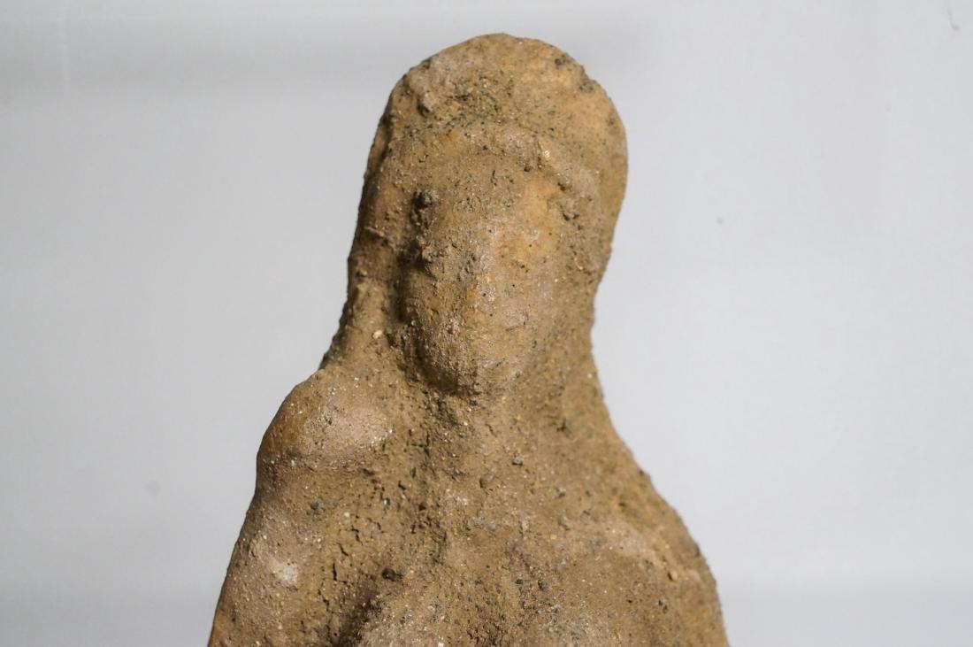 2 ANCIENT ROMAN CLAY STATUE IDOL - 3