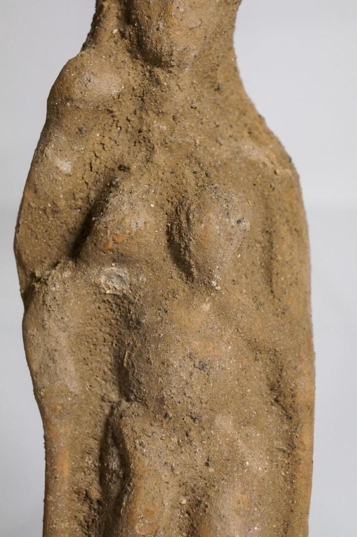 2 ANCIENT ROMAN CLAY STATUE IDOL - 4