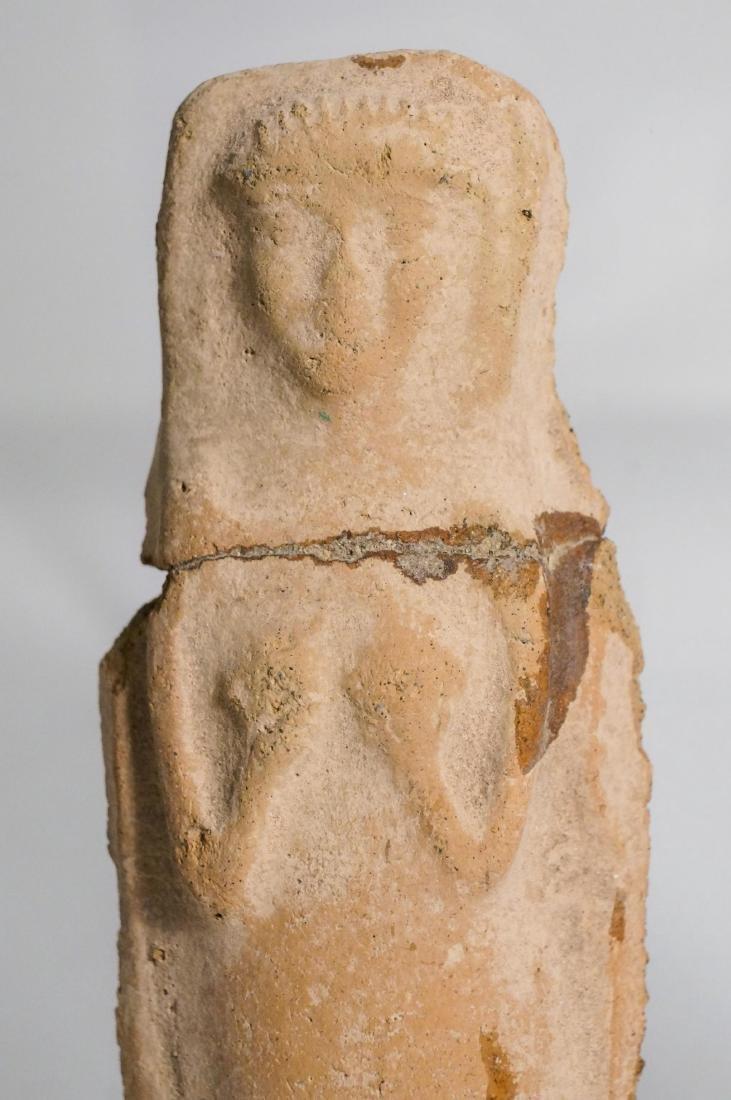 2 ANCIENT ROMAN CLAY STATUE IDOL - 5