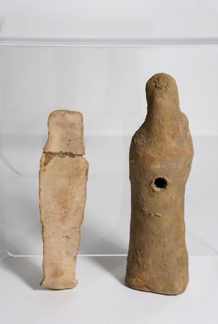 2 ANCIENT ROMAN CLAY STATUE IDOL - 6