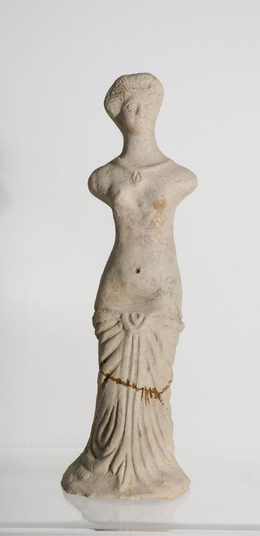 LARGE ANCIENT CLAY FEMALE FIGURE