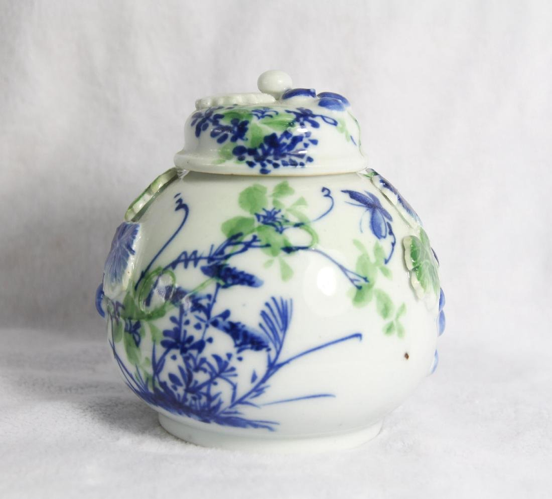 CHINESE PORCELAIN COVER JAR